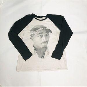 Vintage Tupac Baseball Sleeve T-Shirt 🔥